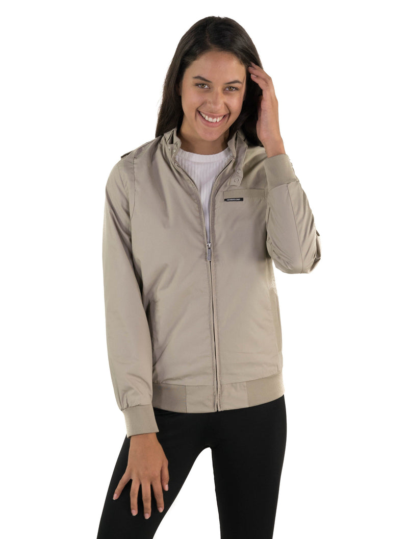 Men's Classic Iconic Racer Jacket for Women ***** Style Eligible for FREE 2nd Day Air Shipping Within The United States (Excluding P.O. BOX addresses, Hawaii, Alaska and Puerto Rico) Unisex Members Only Khaki Small
