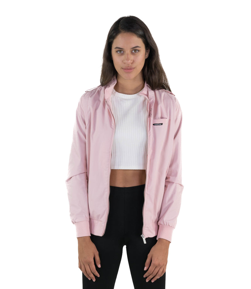 Men's Classic Iconic Racer Jacket for Women ***** Style Eligible for FREE 2nd Day Air Shipping Within The United States (Excluding P.O. BOX addresses, Hawaii, Alaska and Puerto Rico) Unisex Members Only Light Pink Small