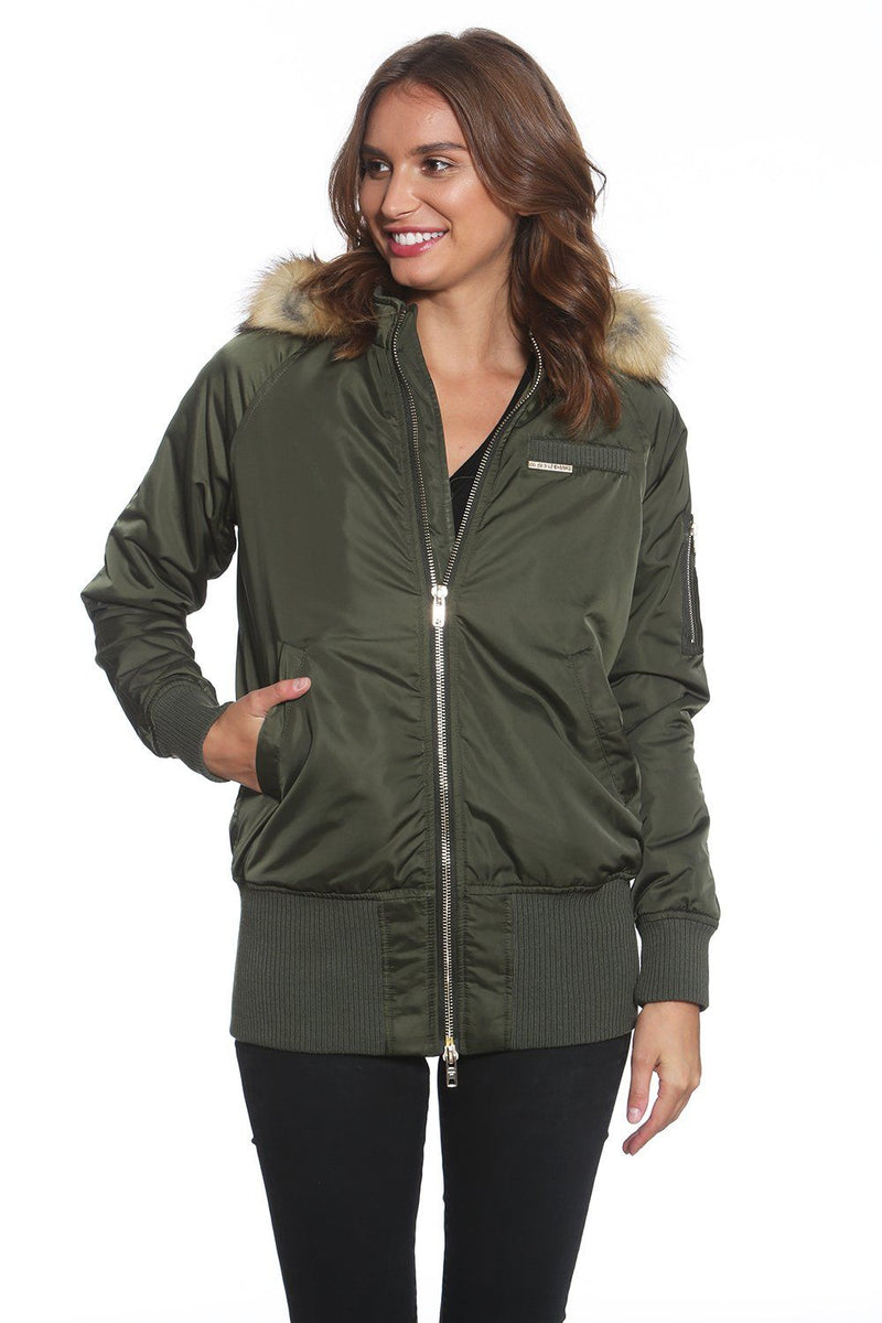 Women's Elongated Bomber Jacket - Members Only Official