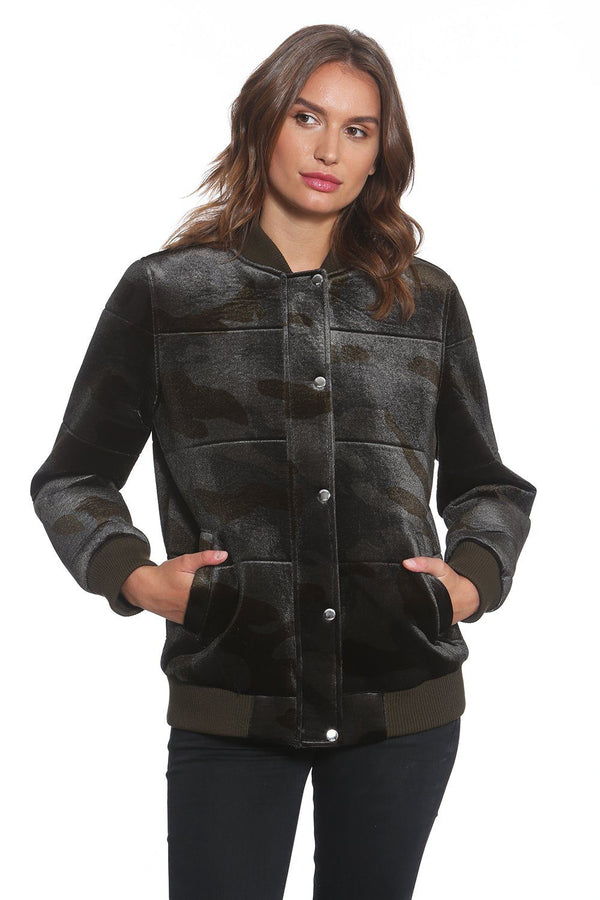 Women's Velvet Bomber Jacket - Members Only Official