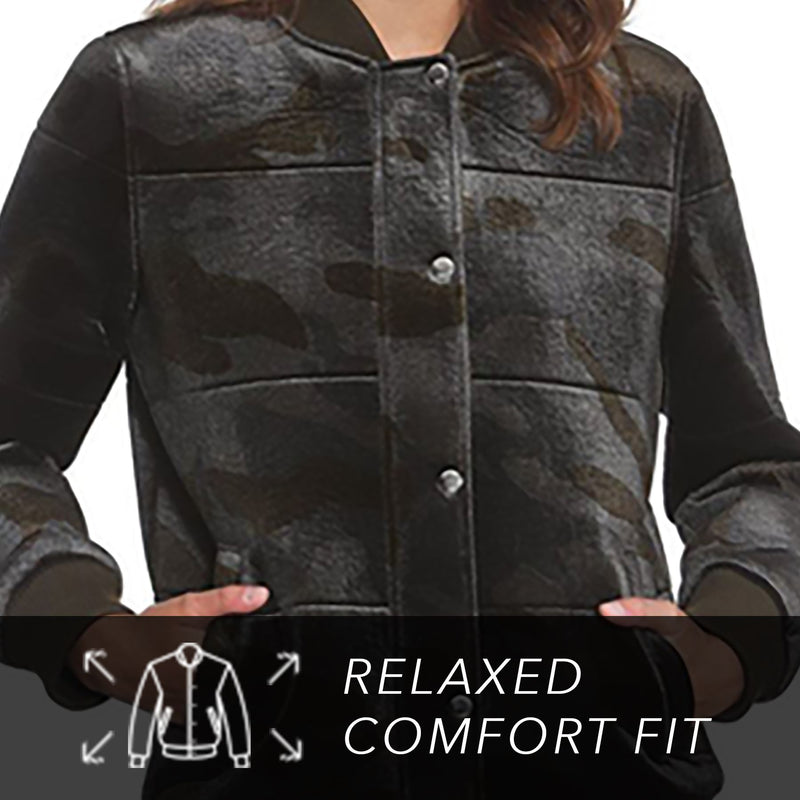 Clearance - Women's Velvet Bomber Jacket