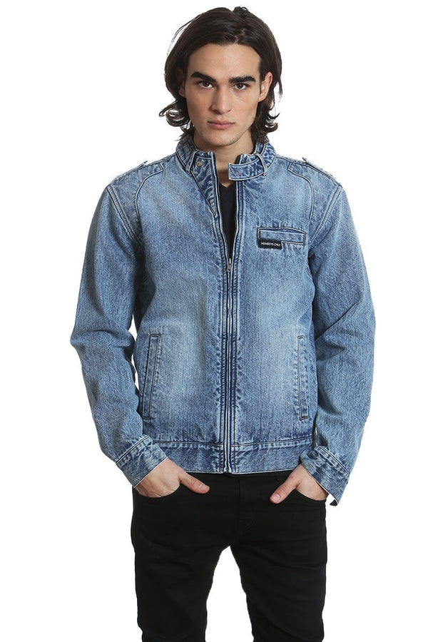 Men's Denim Iconic Racer Jacket