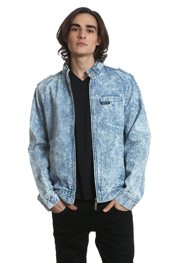 Members Only Denim Iconic Racer Jacket for Men