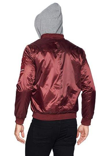 Men Flight Satin Twill Hooded Jacket