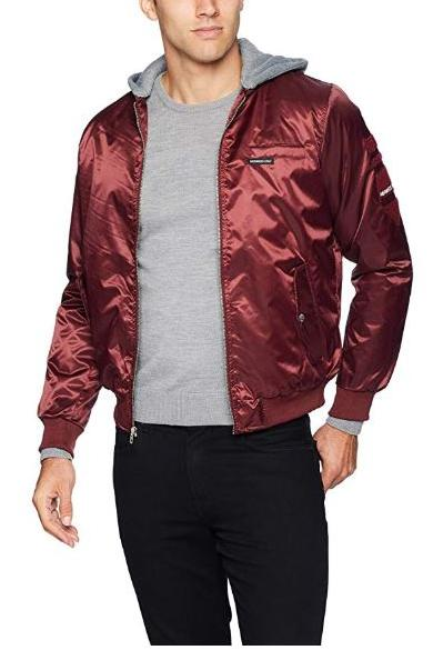 Members Only  Flight Satin Twill Hooded Jacket for Men