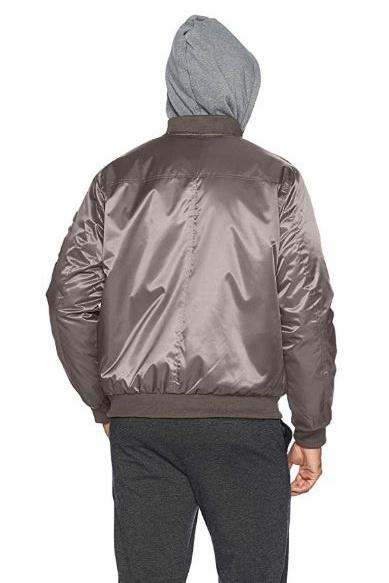 Flight Satin Twill Hooded Jacket for Men