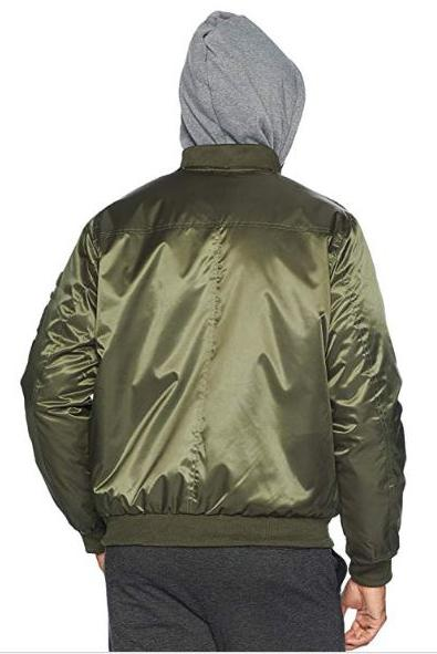 Men's Flight Satin Twill Hooded Jacket