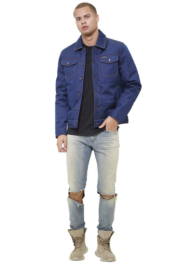 Men's Textured Trucker Jacket - Members Onlyå¨ Official