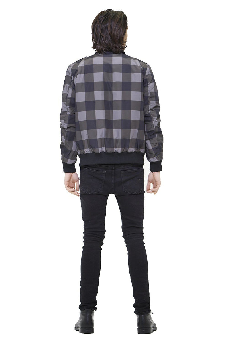 Men Buffalo Plaid Iconic Racer Jacket - Members Only