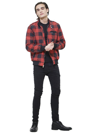Men's Buffalo Plaid Iconic Racer Jacket