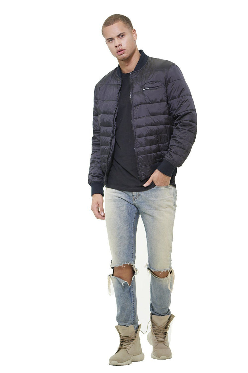 Men's Solid Puffer Jacket - Members Only Official