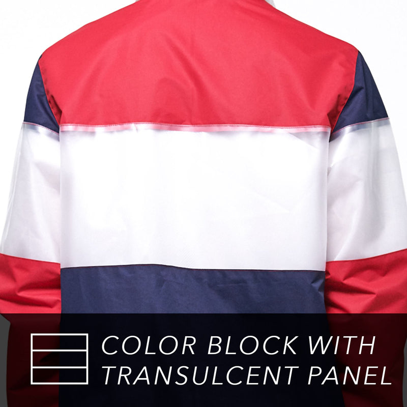 Men's Color and Translucent Block Jacket