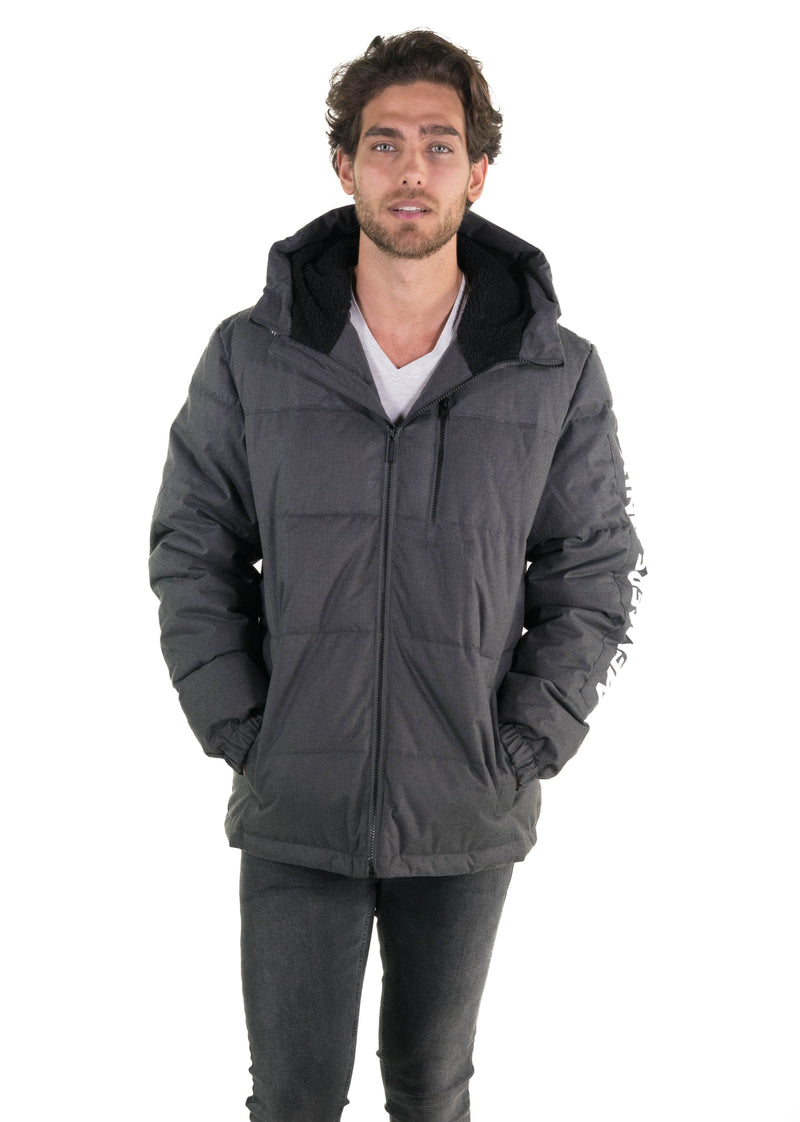 Men's Twill Block Puffer Jacket