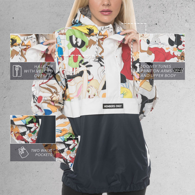 Men's Looney Tunes Collab Popover Jacket For Women - Members Only