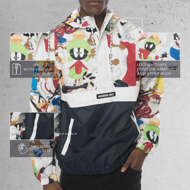 Men's Looney Tunes Collab Popover Jacket Front