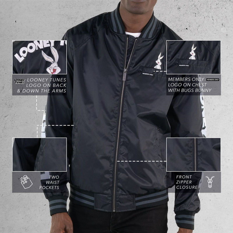 Members Only Men's Looney Tunes Bomber Jacket