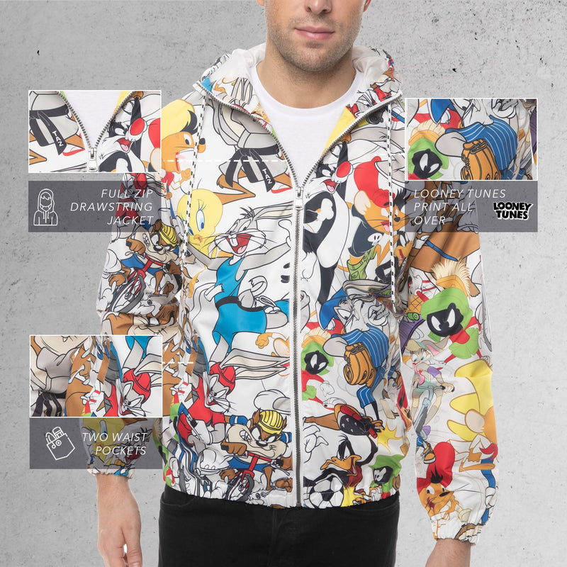 Members Only Looney Tunes Collab Print Windbreaker Jacket