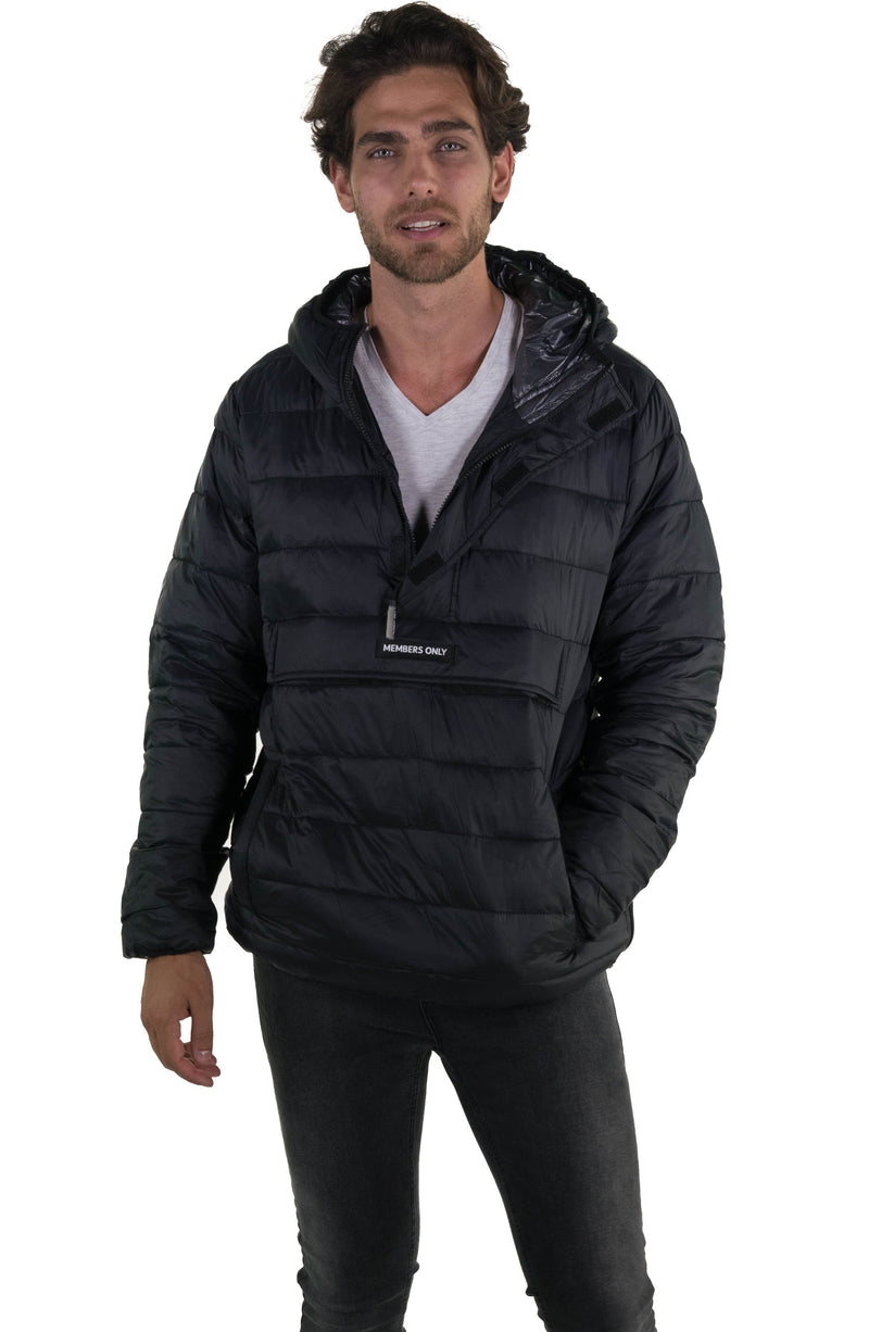 Men's Popover Puffer Jacket Black