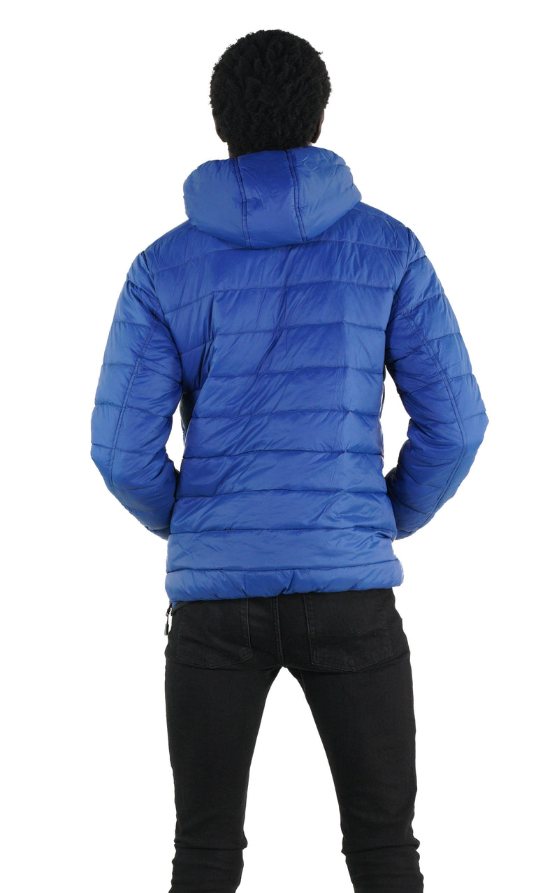 Men Popover Puffer Jacket  Blue