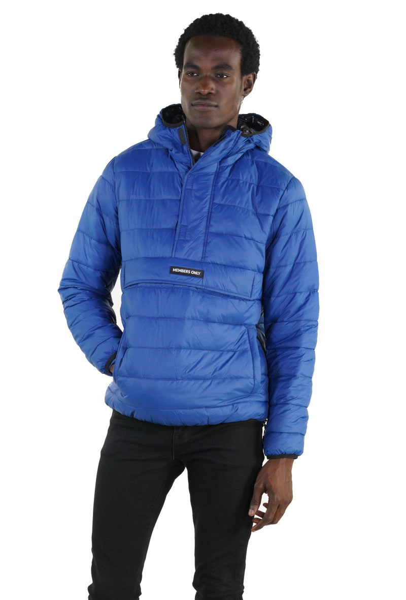 Men's Popover Puffer Jacket Blue