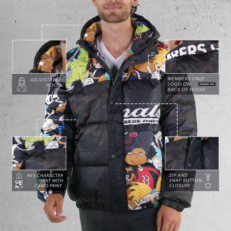 Nickelodeon Camouflage Puffer Jacket for Men