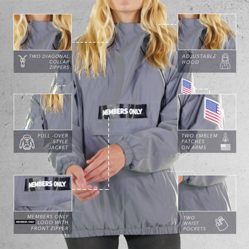 Members Only Men  Nasa Windbreaker Jacket for Women