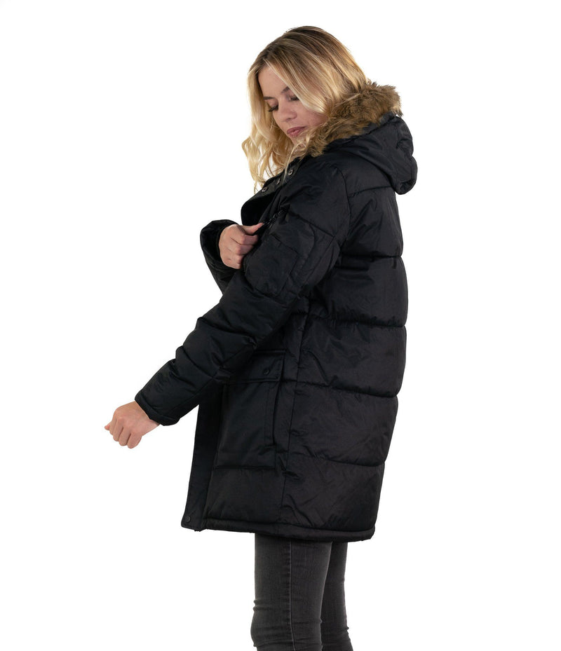 Members Only Men's Snorkel Puffer Jacket for Women