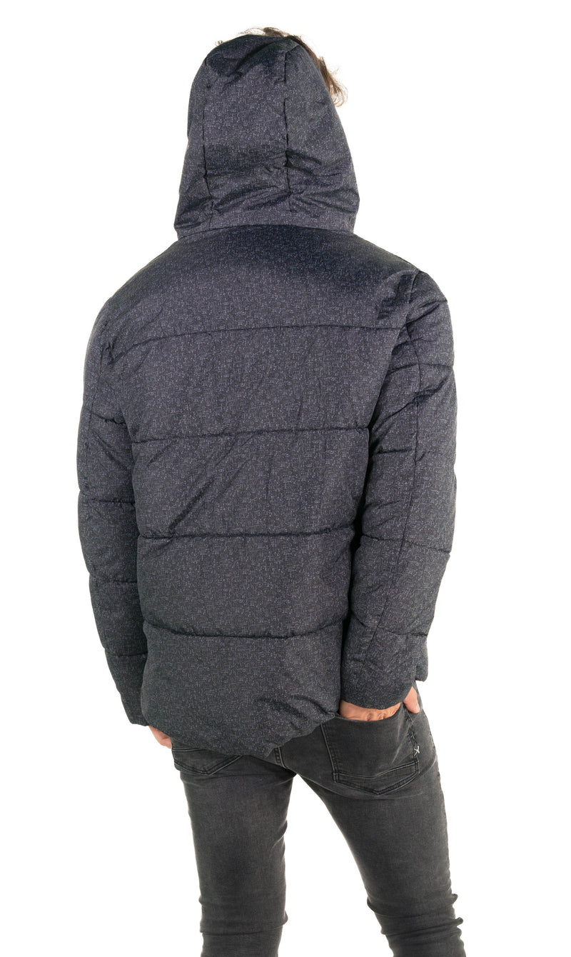 Members Only Men's Heather Print Puffer Jacket