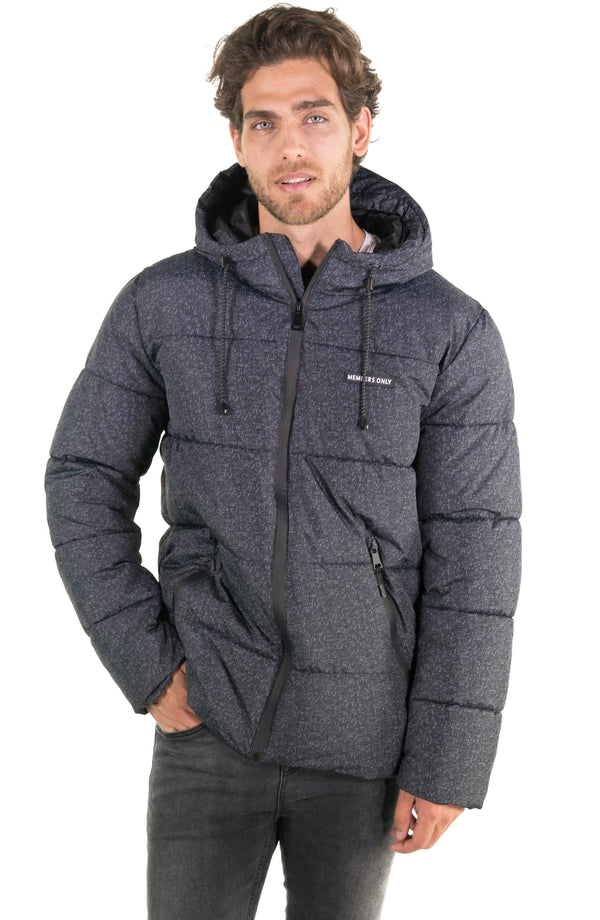 Men's Heather Print Puffer Jacket