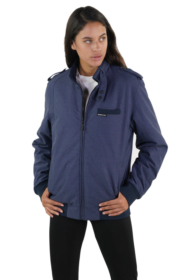 Men's Iconic Racer Heather Jacket for Women Navy