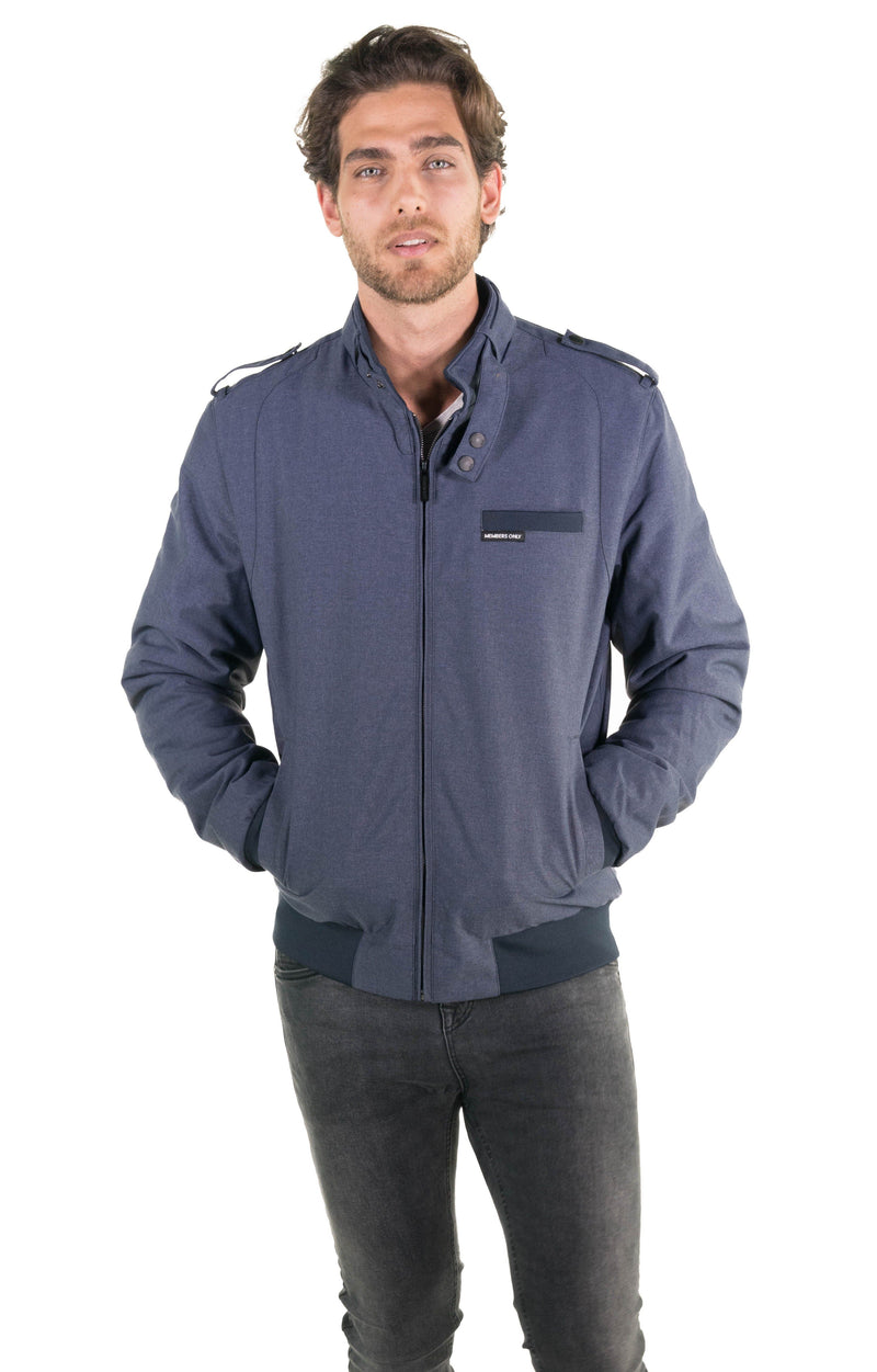 Members Only Men's Iconic Racer Heather Jacket