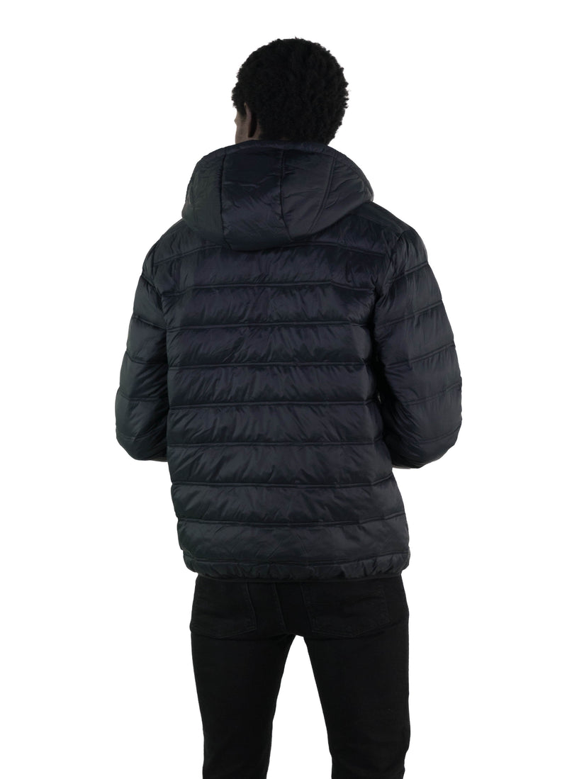 Members Only Zip Front Puffer Jacket Back