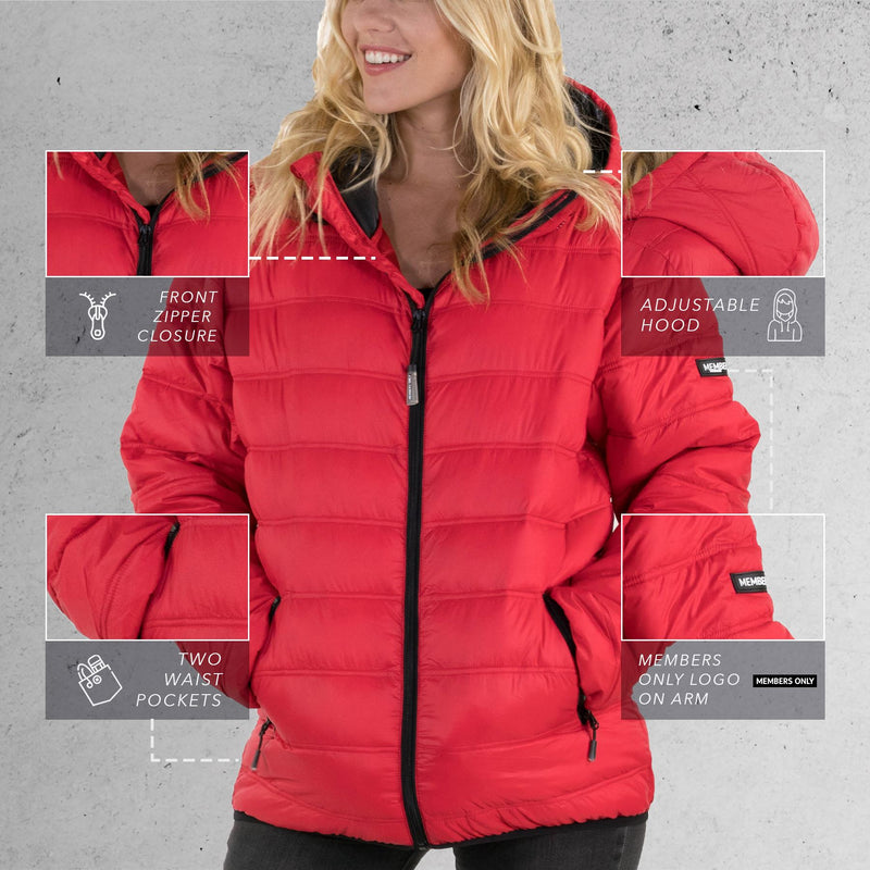 Men's Zip Front Puffer Jacket for Women