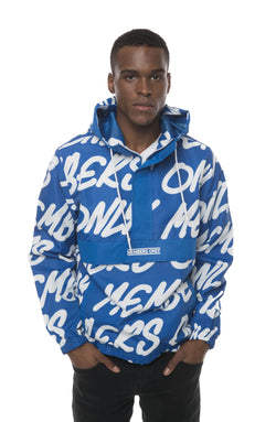 Men's Print Popover Jacket