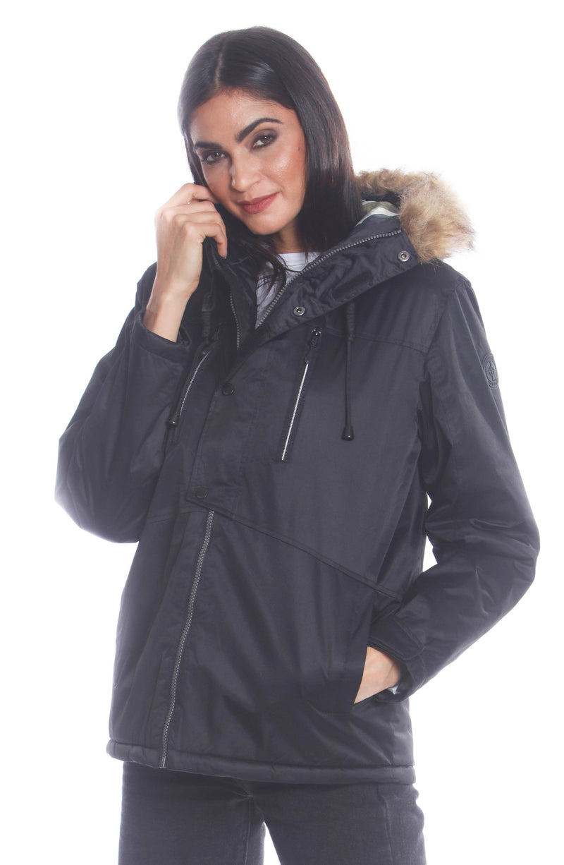 Men's Snorkel Jacket For Women Unisex Members Only Official BLACK Small
