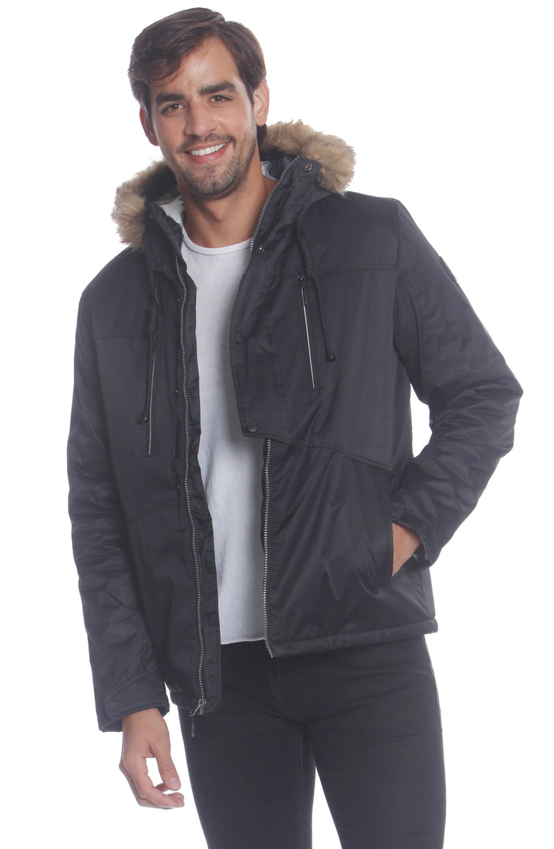 Men's Snorkel Jacket Unisex Members Only Official BLACK Small