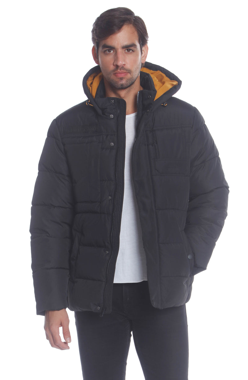 Men's Utility Puffer Jacket Unisex Members Only Official BLACK Small