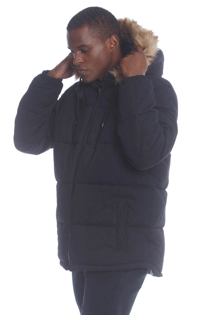 Men's Cotton Puffer Jacket Unisex Members Only Official
