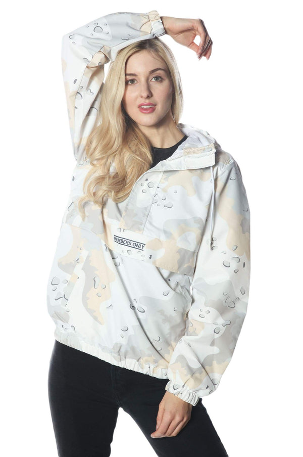 Men's Camo Print Popover Jacket for Women jacket Members Only Official