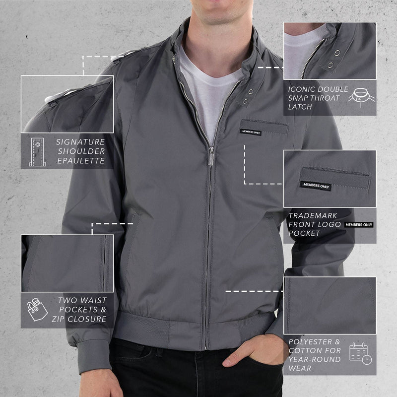 Men's Classic Iconic Racer Jacket (Slim Fit)