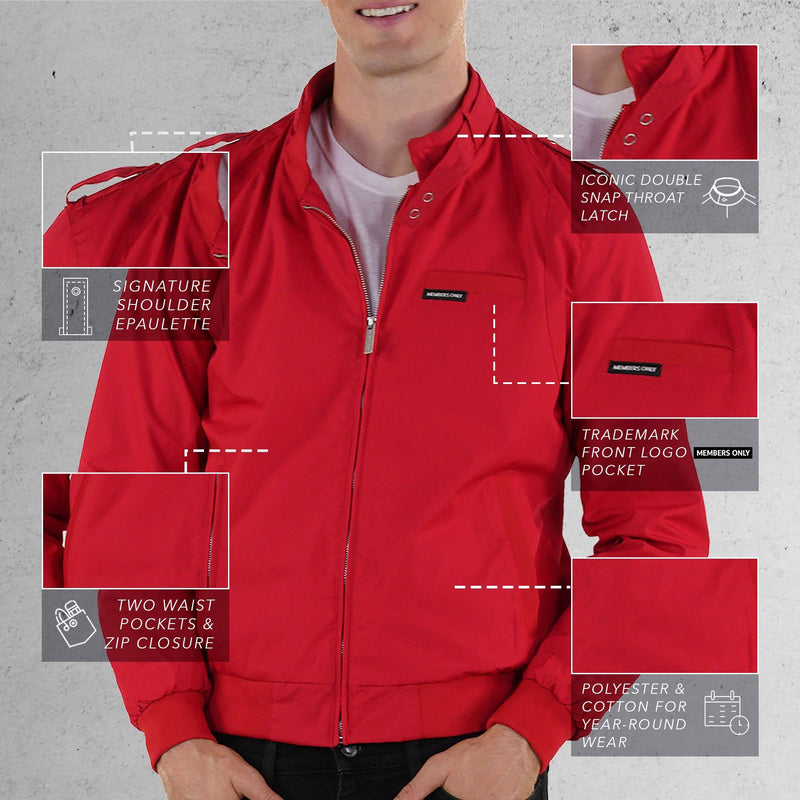Members Only Red Iconic Racer Jacket