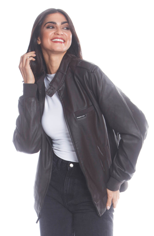 Men's Faux Leather Iconic Racer Jacket (SLIM FIT) for Women Unisex Members Only