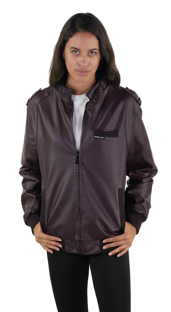 Men's Faux Leather Iconic Racer Jacket (SLIM FIT) for Women