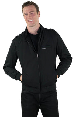 Mens Heavy Iconic Racer Quilted Lining Jacket