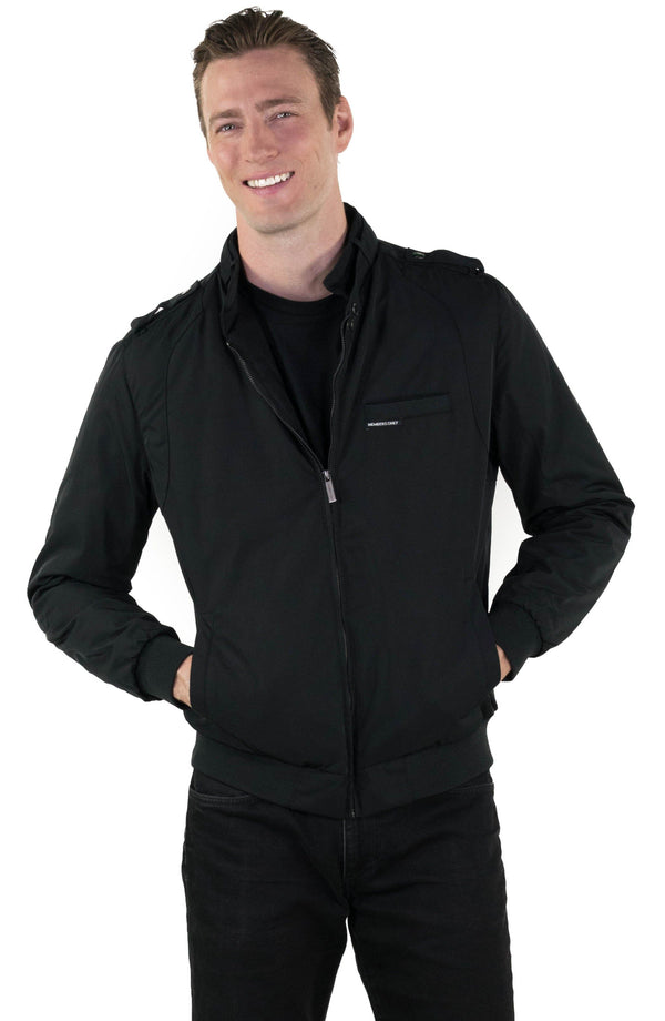 Men's Iconic Racer Jacket with Quilted Lining (SLIM FIT)