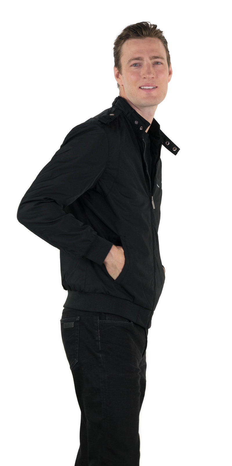 Shop Mens Heavy Iconic Racer Quilted Lining Jacket