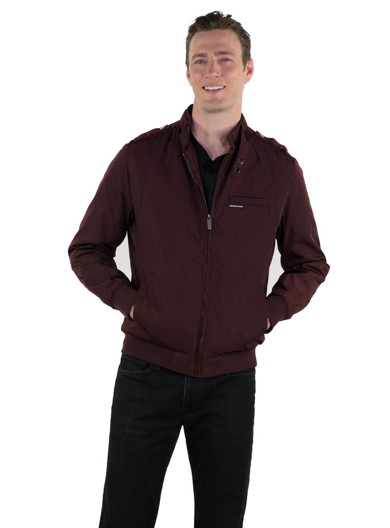 Members Only Men's Heavy Iconic Racer Quilted Lining Jacket (SLIM FIT)