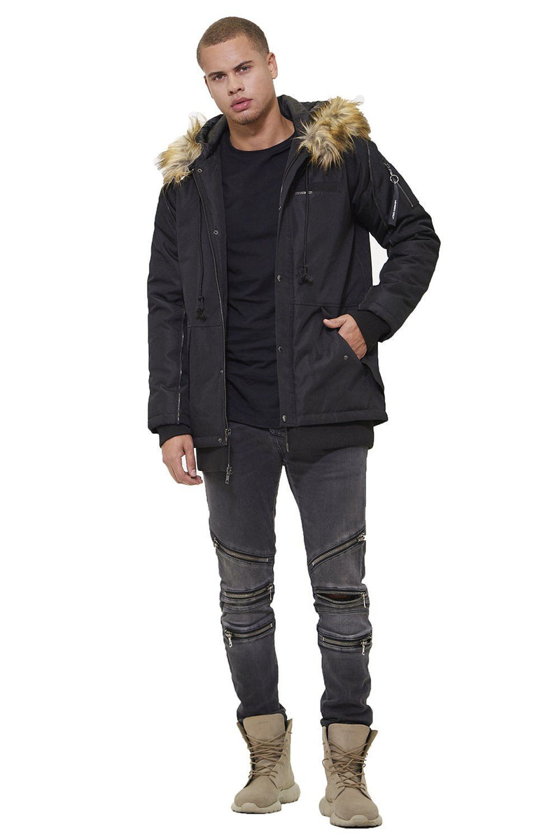 Members Only Oxford Snorkel Parka Jacket for Men