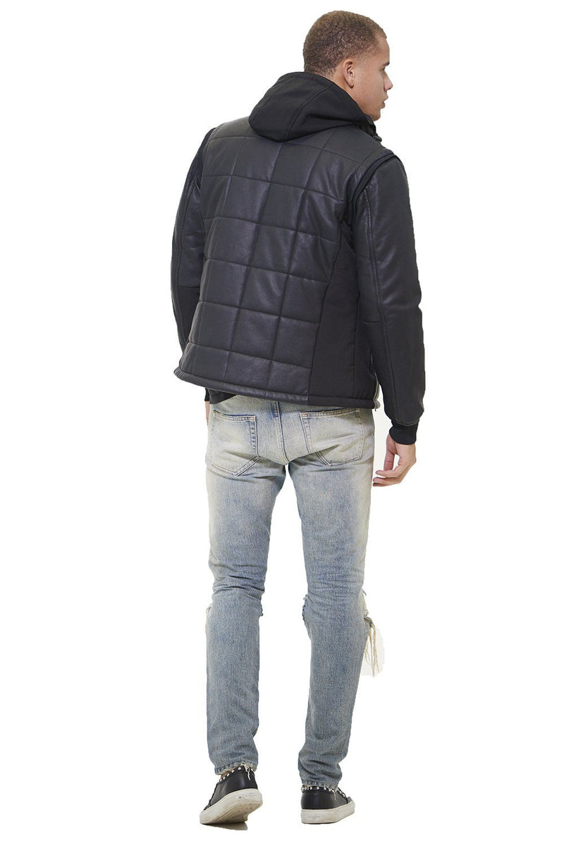 Men's Grid Quilted Bomber Jacket (And Vest) - Members Only