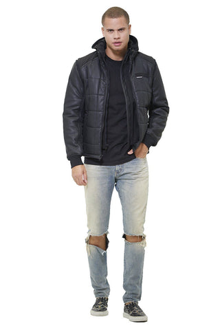 Men's Grid Quilted Bomber Jacket (And Vest) - Members Only® Official